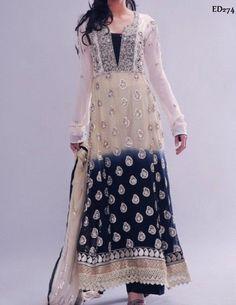 Madhuballa Long Anarkali Kameez Georgette by Ethnicdresses, $197.73