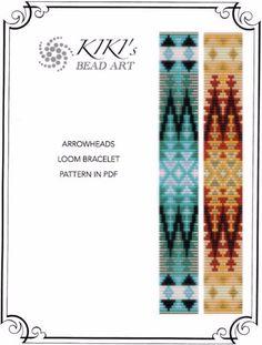 Bead loom pattern Arrowheads ethnic inspired door KikisBeadArts
