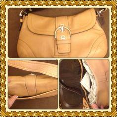Final price  Authentic coach tan shoulder bag, Reduced Coach tan  shoulder bag in very very good condition, dose not come with dust bag. no trades Coach Bags Shoulder Bags
