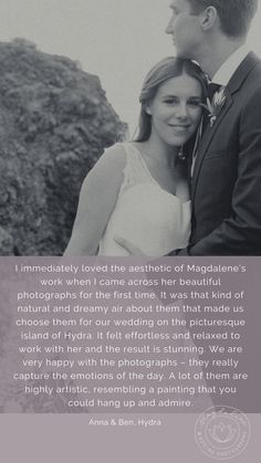 Kind words from couples to Magdalene Kourti wedding photographer, who had destination weddings in Greece. Our Wedding Day, Wedding Pics, Wedding Couples, Destination Wedding Photographer, Destination Weddings, Greece Wedding, Kind Words, Documentaries, Families