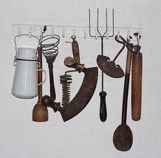 Victorian domestic kitchen utensils