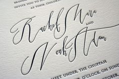 stunning calligraphy #invite #wedding beautiful calligraphy, letterpress, wedding invitations