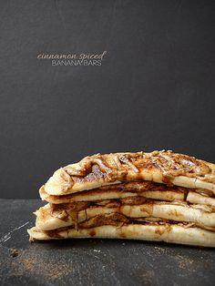 Cinnamon Spiced Banana Bars by Pure & Simple