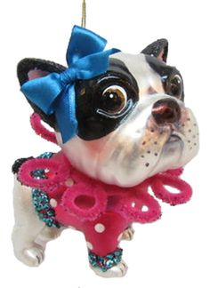 ❤ Dolly Boston Terrier Fave ❤ BT Christmas ornament