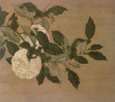 citron香櫞 silk painting song dynasty