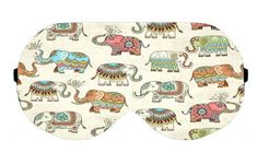 Elephant Elephants Cute Sleep Eye Mask Masks Sleeping Night Blindfold Eye Eyes cover covers pad padding patch Travel Kit kits wear Accessory by venderstore on Etsy