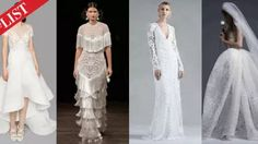 The list - top bridal fashion trends.