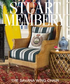 STUART MEMBERY HOME COLLECTION: THE SAVANA WING CHAIR...