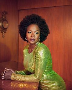 American actress Viola Davis wears a look from Max Mara with Tiffany & Co. earrings on the Winter 2018 cover of L'Officiel US lensed by photographer . Blonde Actresses, Black Actresses, 50s Actresses, Child Actresses, Classic Actresses, Female Actresses, Hollywood Actresses, Beautiful Actresses, Indian Actresses