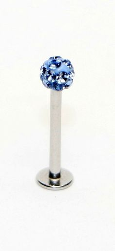 Jewels Fashion Surgical Steel Labret (Color Stones) 6/8 (Lavender)