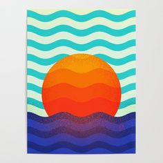 Buy #019 OWLY swimming at the sunrise Poster by owlychic. Worldwide shipping available at Society6.com. Just one of millions of high quality products available. #frame #building #canvas #canvasprint #walldecor #prints #artwork #print #canvas #poster #print #wallappers #background #owlychic #tapestry #hanger