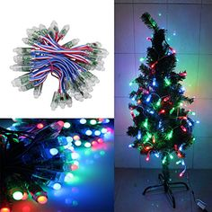 Christmas Lights..KAPATA 50Pcs/string DC5v Digital WS2811 LED Pixel String Lights 12mm Color Changing Christmas Lights Decorative Wedding Holiday Party RGB Pixel LED Lights (WS2811) >>> You can get more details at http://www.amazon.com/gp/product/B00OH05D3I/?tag=christmas3638-20&pjk=250916142023