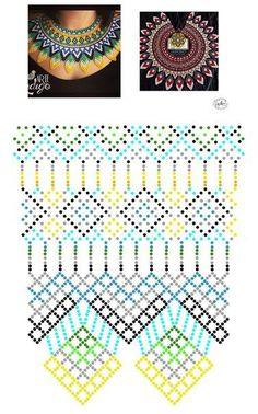 Дыхание Бисера's photos Beading Patterns Free, Bead Loom Patterns, Beading Tutorials, Diy Necklace Patterns, Beaded Jewelry Patterns, Beaded Crafts, Handmade Beads, Bead Crochet, Loom Beading