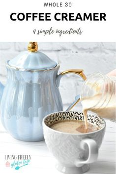 I am in the middle of a Whole 30 and this Whole 30 compliant coffee creamer is P. - I am in the middle of a Whole 30 and this Whole 30 compliant coffee creamer is Paleo, Keto, Whole 3 - Whole 30 Coffee, Whole 30 Vegan, Paleo Coffee, Diet Plan Menu, Dairy Free Recipes, Gluten Free, Paleo Recipes, Coffee Creamer, Paleo Dessert