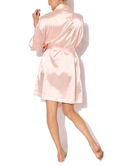Hey, I found this really awesome Etsy listing at https://www.etsy.com/listing/209506671/champagne-pink-plain-kimono-satin-robe