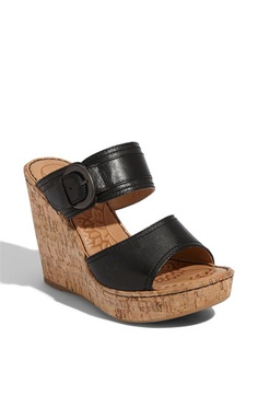 Børn 'Zee' Wedge Sandal (Exclusive) available at Nordstrom. The most comfortable wedges ever!