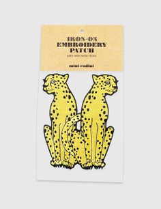Product thumbnail of CHEETA EMBROIDERY PATCH YELLOW