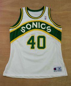 Seattle SuperSonics - XL   48 - Shawn Kemp Authentic Champion Basketball  Jersey  Champion  SeattleSupersonics 8904247e2