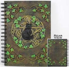 Black Cat Pentagram Journal