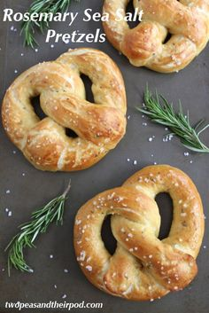 Rosemary sea salt pretzels make a delicious lunch—especially with cheddar cheese sauce for dipping!
