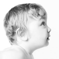 Baby Photos by Jo Frances Wellington, Award Winning Photographer - Sweet profile photo of a baby, in black and white, by Jo Frances