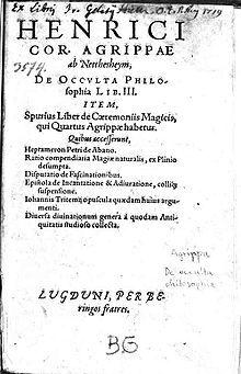 De occulta philosophia libri tres - Wikipedia