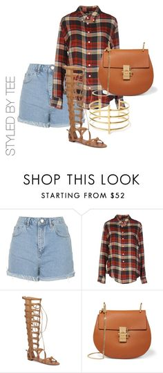 """Untitled #130"" by toniannfratianni on Polyvore featuring Topshop, Band of Outsiders, Vince Camuto, Chloé and BauXo"