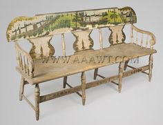 PA Windsor Settee with paint decoration