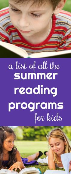 Here's a list of free summer reading programs for kids. I sign my kids up for all of them.