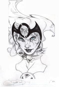 Girl Drawing Coloured X-Men Marvel Long Hair Realistic/Cartoon Portrait Comic Book Artists, Comic Book Characters, Comic Artist, Comic Character, Comic Books Art, Marvel Comics, Bd Comics, Comics Girls, Marvel Art