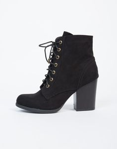 You found them! Your new go-to Lace-Up Wooden Heel Ankle Boots! These ankle boots come in two colors. These ankle boots are great for everyday, festival, and summer into fall looks!