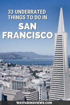 "These unique things to do in San Francisco go beyond the ""must see"" sights. It includes unusual foods cool neighborhoods weird attractions and offbeat spots. hotel restaurant travel tips Usa Travel Guide, Travel Usa, Travel Tips, Travel Articles, Travel Packing, Travel Advice, Travel Ideas, Us Travel Destinations, San Francisco Travel Guide"