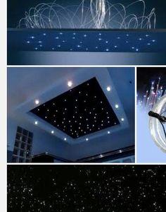 LED Sternenhimmel mit schwarzem Hintergrund