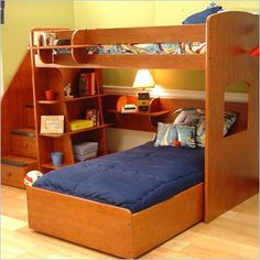 Full Wool Bunk Bed with Storage Drawers