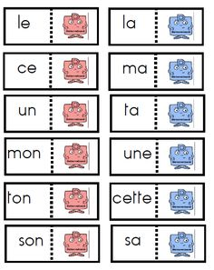 Les déterminants French Grammar, French School, Literacy, Notes, Classroom, Teaching, Math, Homeschooling, Vocabulary
