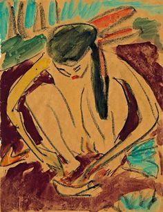 Франци, 1909. Ernst Kirchner (1880-1938)