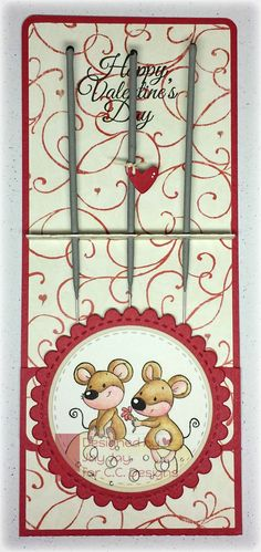 C.C. Designs Animal Crackers Mousey Love, AmyR Stamps Elegant Valentine, C.C. Cutters Make A Card #2, C.C. Cutters Make A Card #3