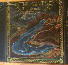 Waldorf ~ 2nd grade ~ Saint Stories ~ Saint Benedict ~ chalkboard drawing