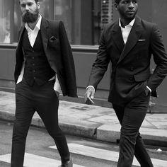 Suit up men Style beard hair tumblr streetstyle