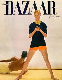 Richard Avedon's first Harper's Bazaar cover, featuring Ford model Natálie Nickerson, January 1947. By Richard Avedon/© The Richard Avedon Foundation/Published in Harper's Bazaar, 1947, Reprinted with permission of Hearst Communications, Inc.
