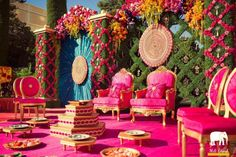 Magenta and Gold Wedding  Chair Decor for the Royal picturesque wedding | Real wedding of  Pankaj & Avnie in LA | Decor by Prashe decor in Vegas | Location : the Bellagio, Los Angeles |  Love is a gamble - our favourite decor looks curated by witty vows | Every Indian bride's Fav. Wedding E-magazine to read. Here for any marriage advice you need | www.wittyvows.com shares things no one tells brides, covers real weddings, ideas, inspirations, design trends and the right vendors, candid…