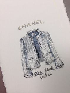ORIGINAL Chanel Little Black Jacket Painting Iconic by LimbTrim, $25.00