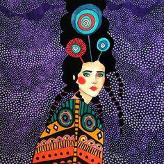 """wishes"" watercolour on paper) SOLD – Aquarelle paint Portraits, Portrait Art, Watercolor Illustration, Female Art, Art Inspo, Collage Art, Art Drawings, Cool Art, Art Projects"