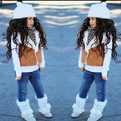 Clothes For Girls Age 10 Latest Fashion For Girls, Girls Winter Fashion, Cute Kids Fashion, Toddler Fashion, Look Fashion, Little Girl Outfits, Kids Outfits Girls, Toddler Girl Outfits, Little Girl Fashion