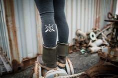 Alaska Leggings by AKSalmonsisters on Etsy, $45.00