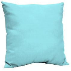 Better Homes & Gardens Teal 21 x 21 in. Outdoor Dining Pillow Back Cushion w EnviroGuard