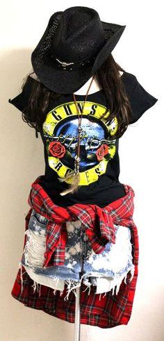 Guns n Roses Bullet Tee Scoop Neck by Julia Takai (Handmade) S - XXL #Handmade #GraphicTee