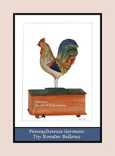 German Bellows Toy Rooster premium poster - Premium Pro Platinum Paper / 8 1/2 X 11