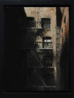 "KIM COGAN, ""ESCAPING SHADOWS,"" ON PANEL, 12 X 9 INCHES (SOLD) by arcadiacontemporary, via Flickr"