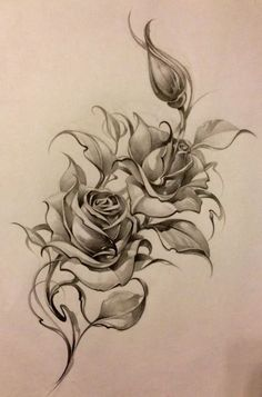 ideas tattoo hip rose tat for 2019 Rose Drawing Tattoo, Rose Tattoo Thigh, Tattoo Sketches, Tattoo Drawings, Body Art Tattoos, Sleeve Tattoos, Tattoo Hip, Art Sketches, Feather Tattoos